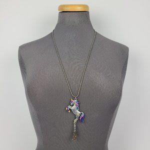 Unicorn Pendant Chain Necklace